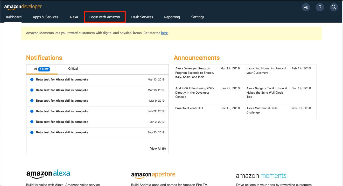 Amazon Alexa Login